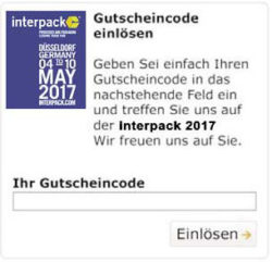 components for processing and packaging Gutschein-Widget
